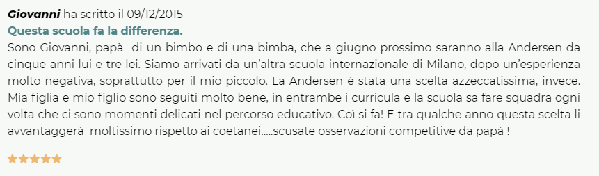 Andersen International School Milan, Home Page